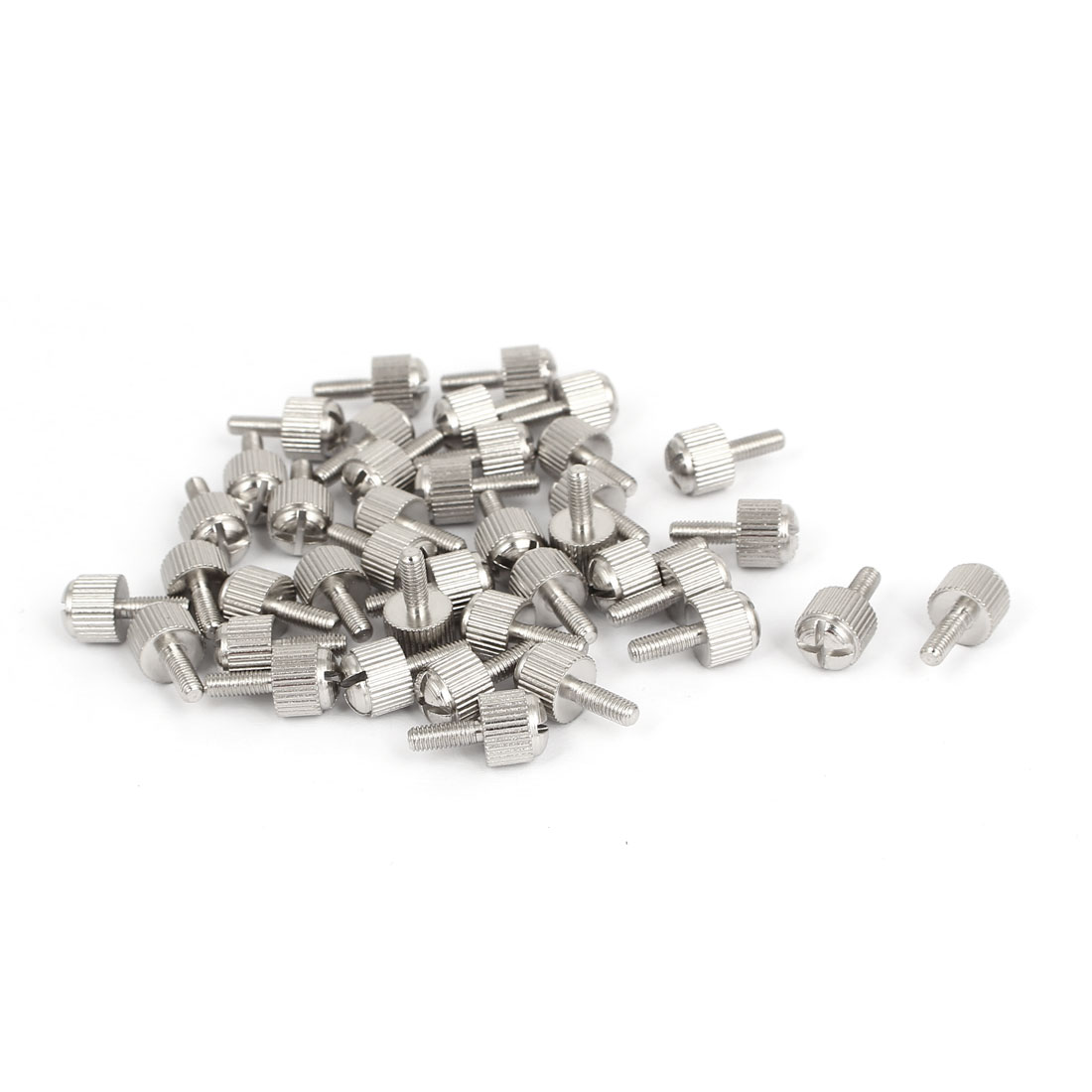 Computer PC Case Metal Knurled Head Phillips Thumb Screws M3x8mm 40pcs