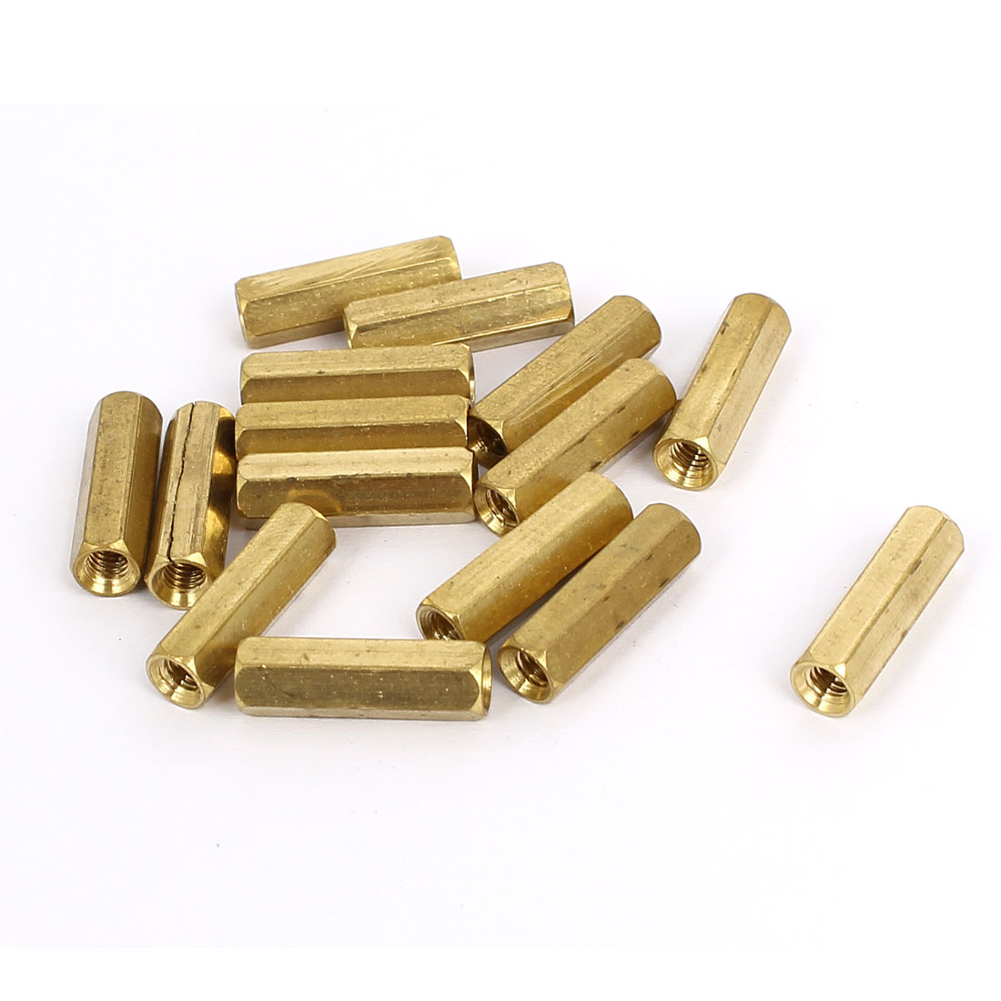 M4x20mm Brass Hex Hexagonal Female Thread PCB Standoff Spacer 15pcs