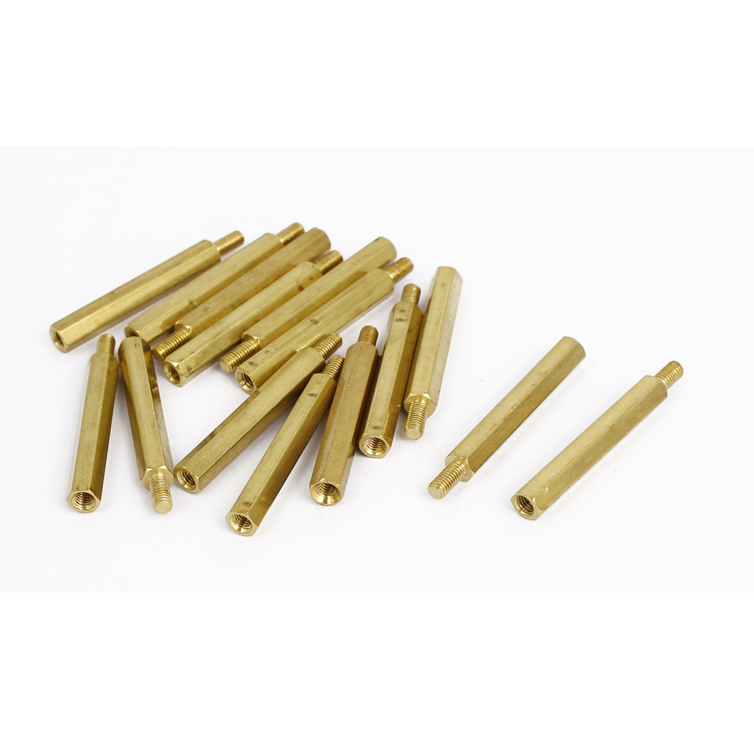 M3 Female x Male Brass Hexagonal Pillar Standoff Spacer Screws Bolt 32+6mm 15pcs