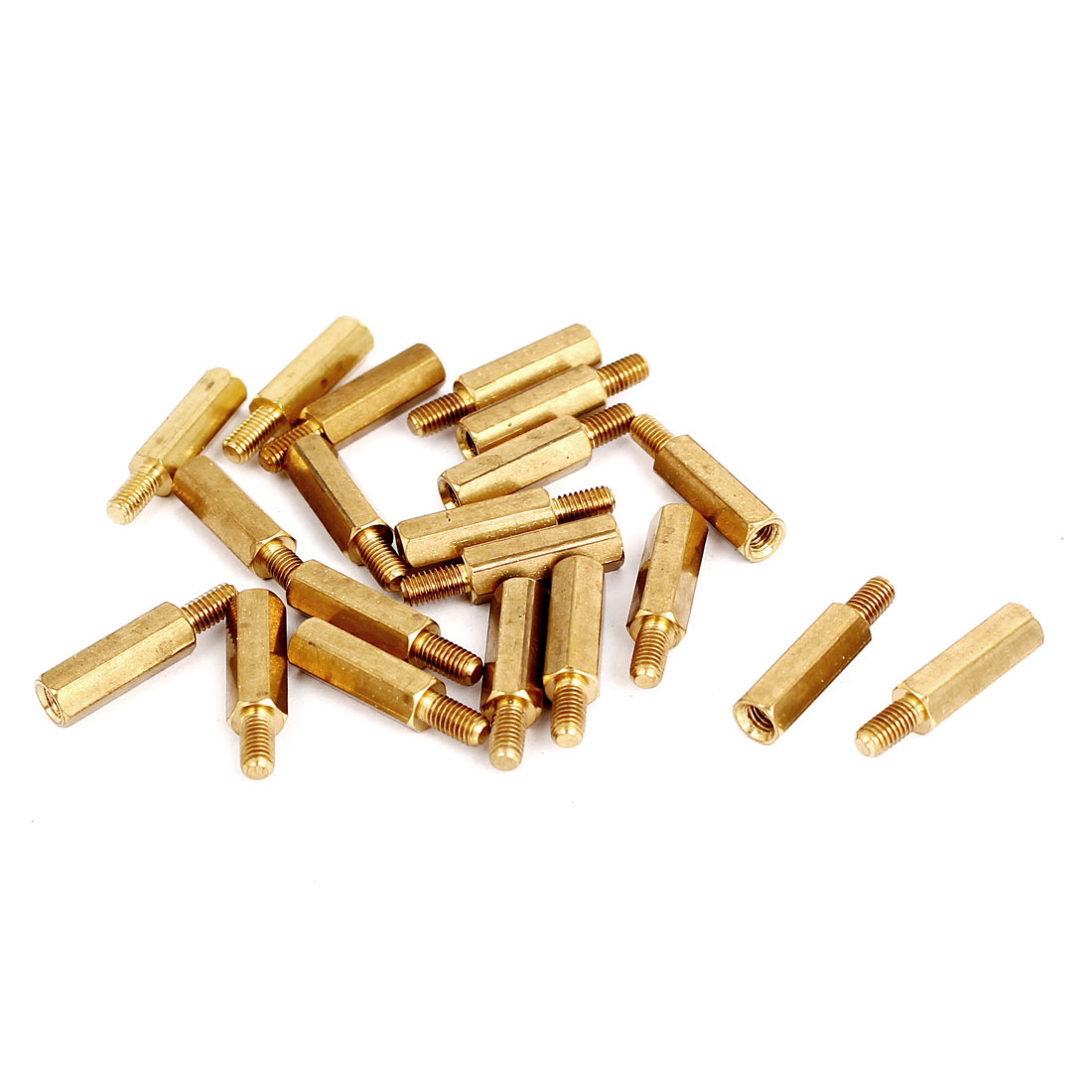 M3 Male/Female Thread Brass Hex Hexagonal PCB Spacer Standoff Support 14mm+6mm 20pcs