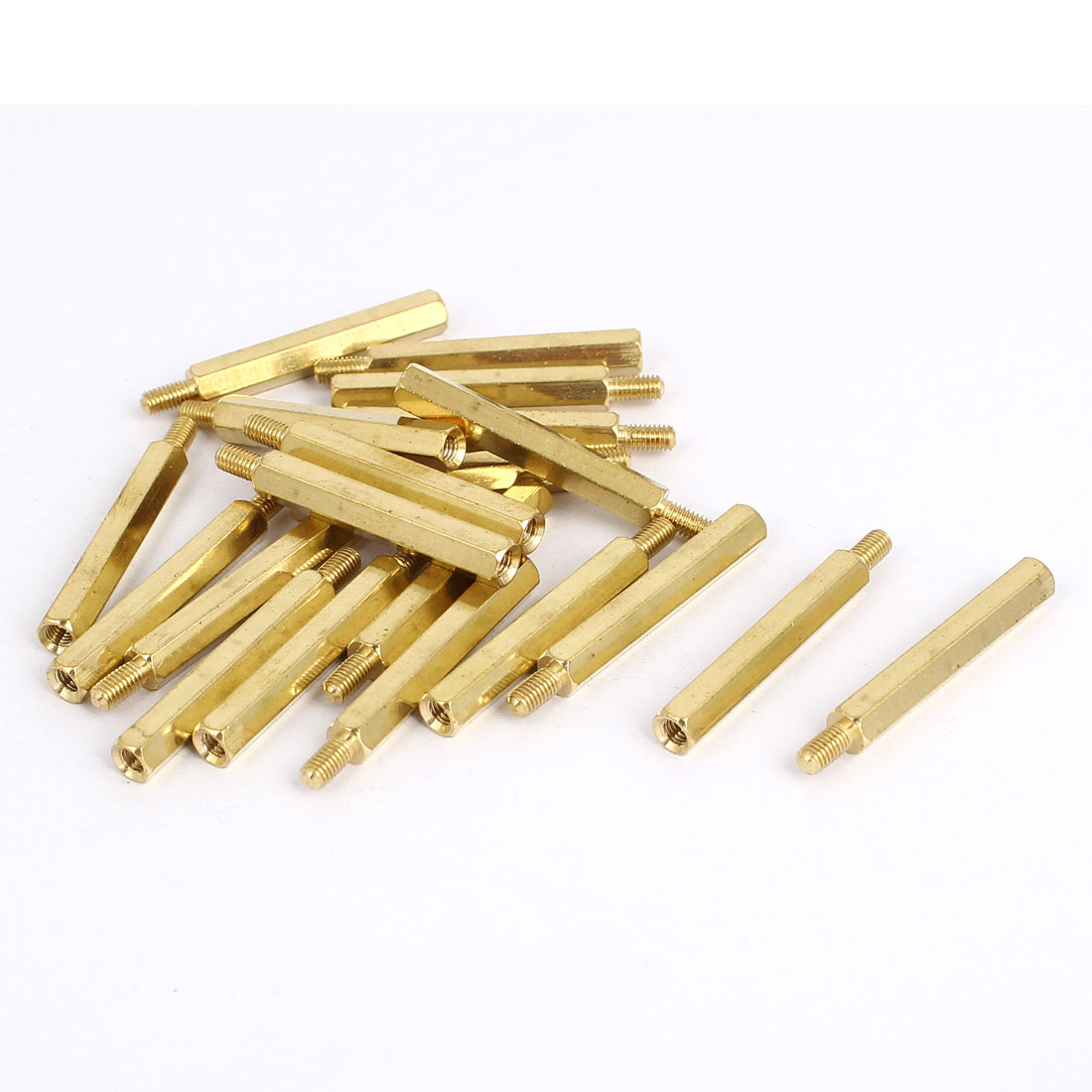 M3x30mm+6mm Brass Threaded Hex Hexagonal Male/Female Standoff Spacer Pillar 20pcs