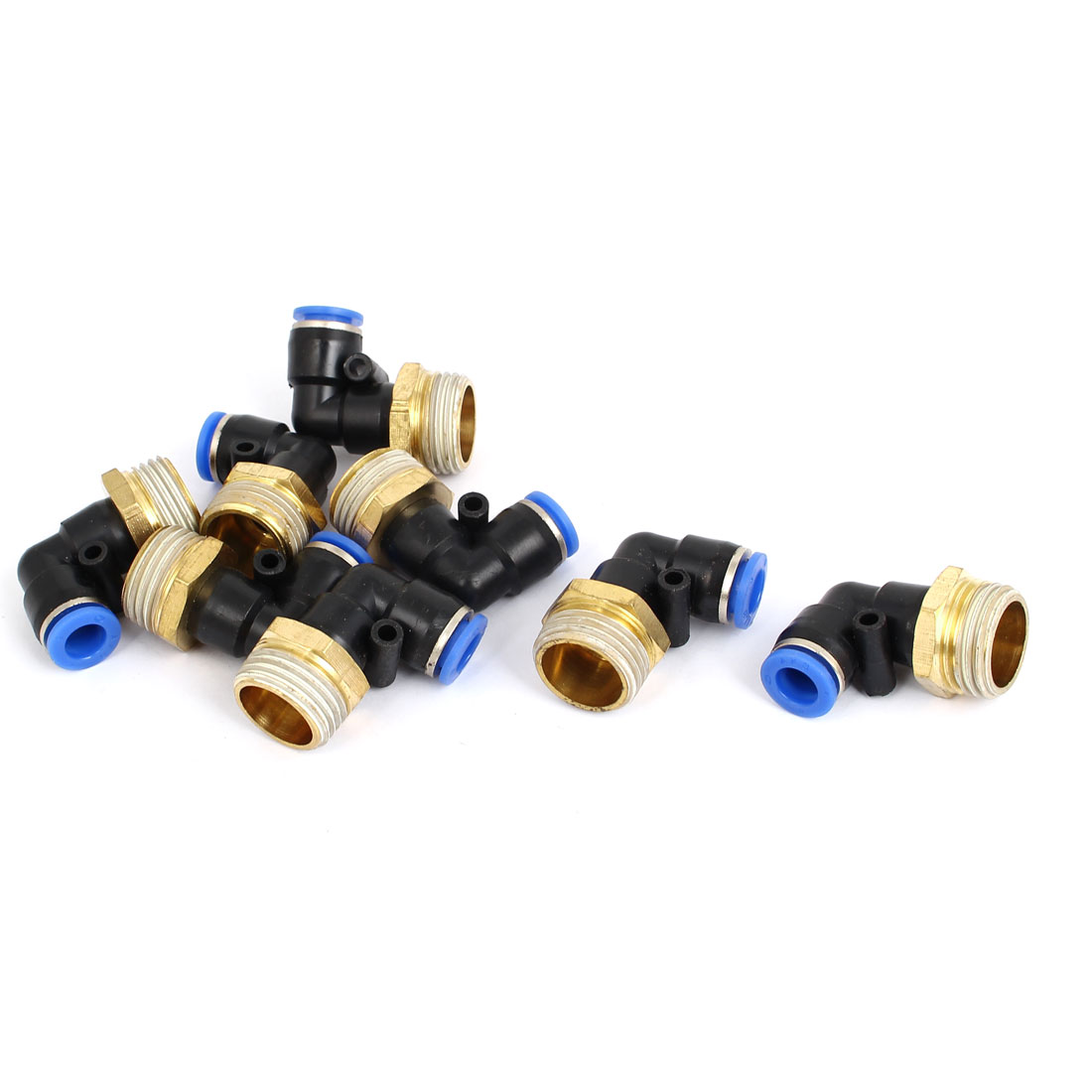 8mm Tube 1/2BSP Male Thread Elbow Union Quick Connect Fittings Coupler 8pcs