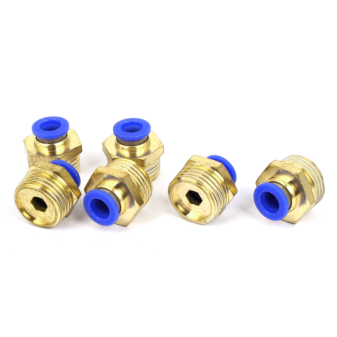 1/2BSP Male Thread 8mm Push In Joint Pneumatic Connector Quick Fittings 6pcs