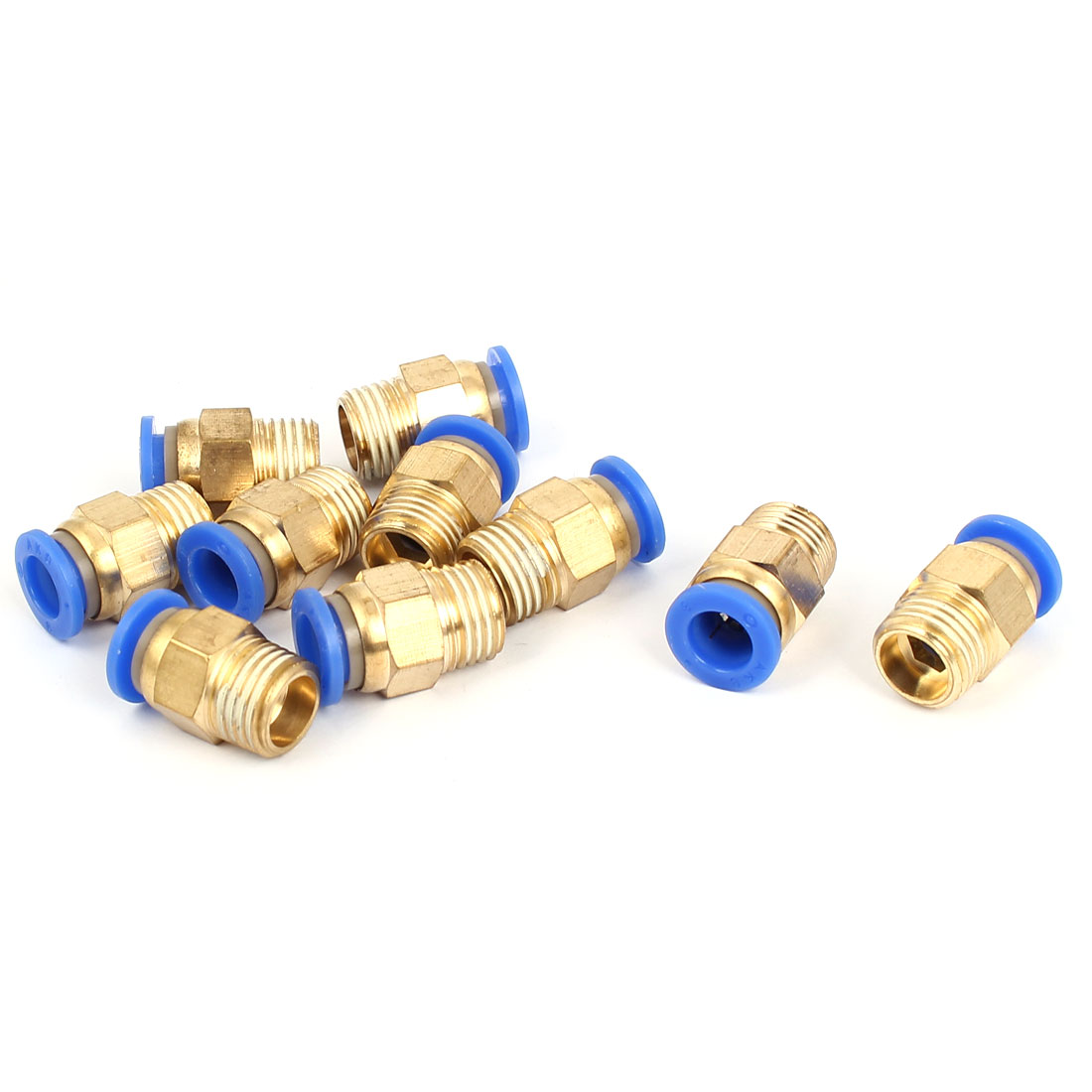 8mm Tube 1/4BSP Male Thread Quick Connector Pneumatic Air Fittings 10pcs