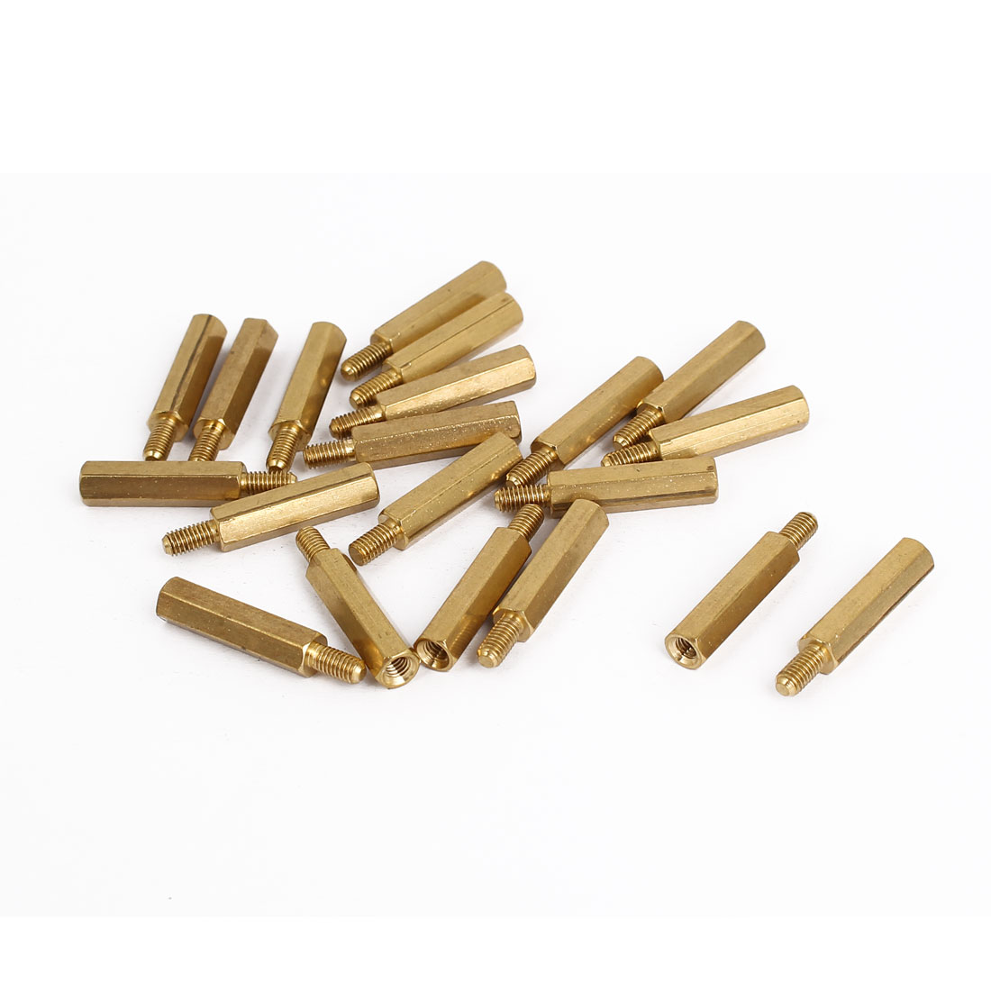 M3 Male/Female Thread Brass Hex Hexagonal Spacer Standoff Support 19mm+6mm 20pcs