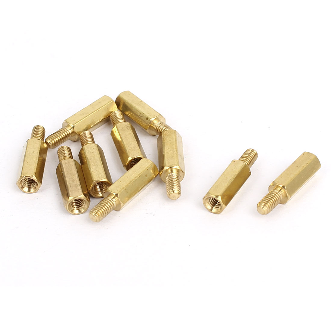 M3x12mm+6mm Brass Threaded Hex Hexagonal Male/Female Standoff Spacer Pillar 10pcs