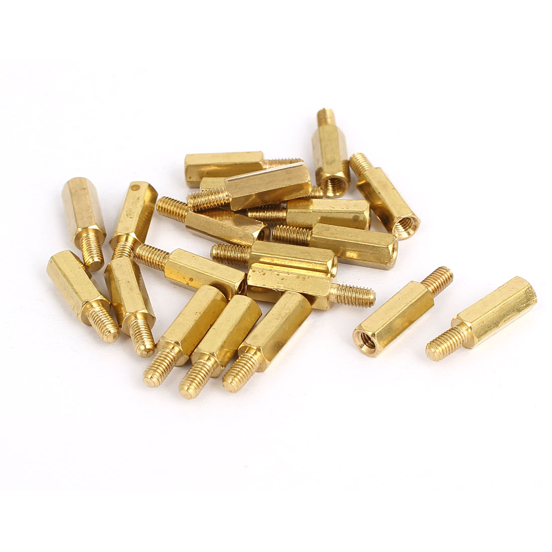 M3x12mm+6mm Brass Threaded Hex Hexagonal Male/Female Standoff Spacer Pillar 20pcs