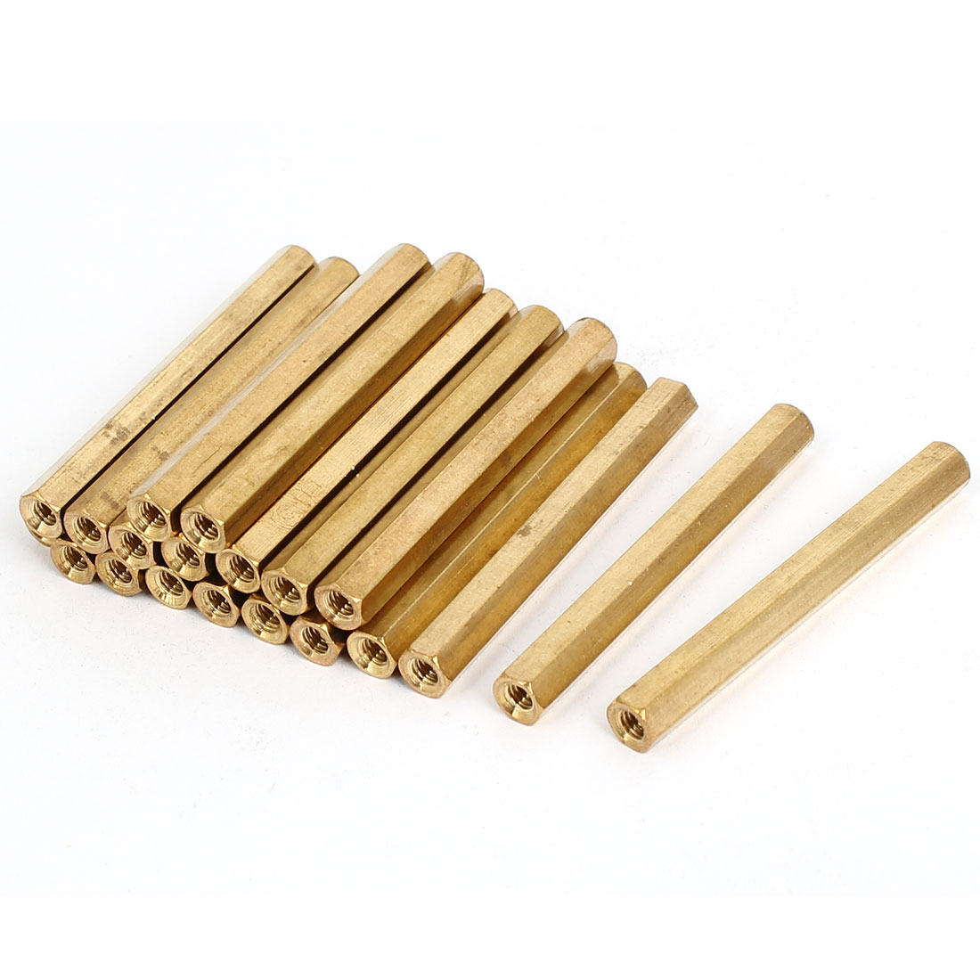 20pcs M4 Female Thread Insulated Brass Standoff Hexagonal Spacer 55mm Long