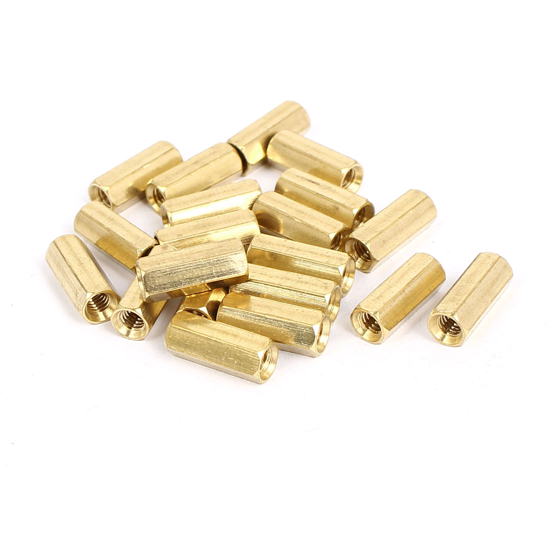 M4x15mm Brass Hex Hexagonal Female Thread PCB Standoff Spacer 20pcs