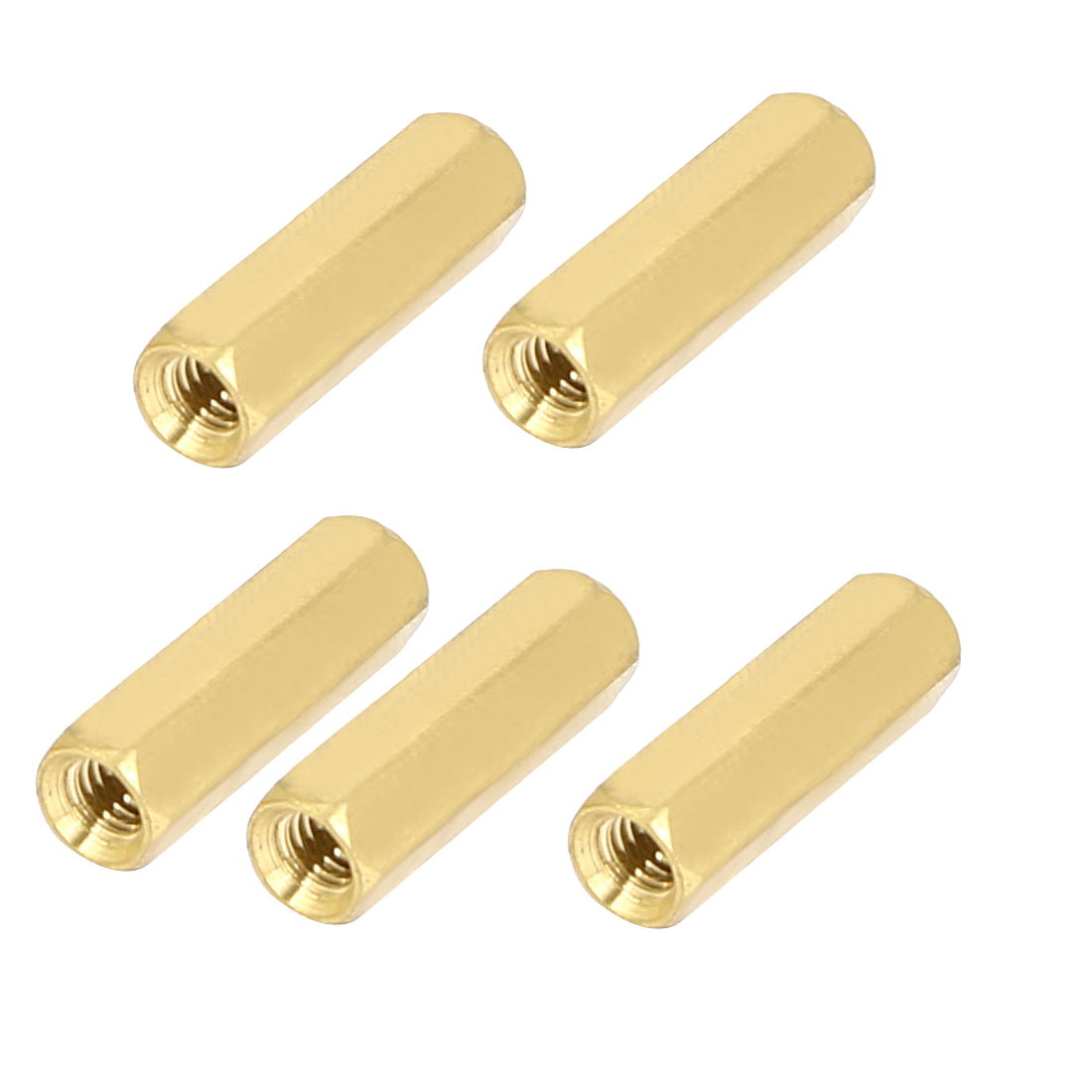 M4x20mm Brass Hex Hexagonal Female Thread PCB Standoff Spacer 5pcs