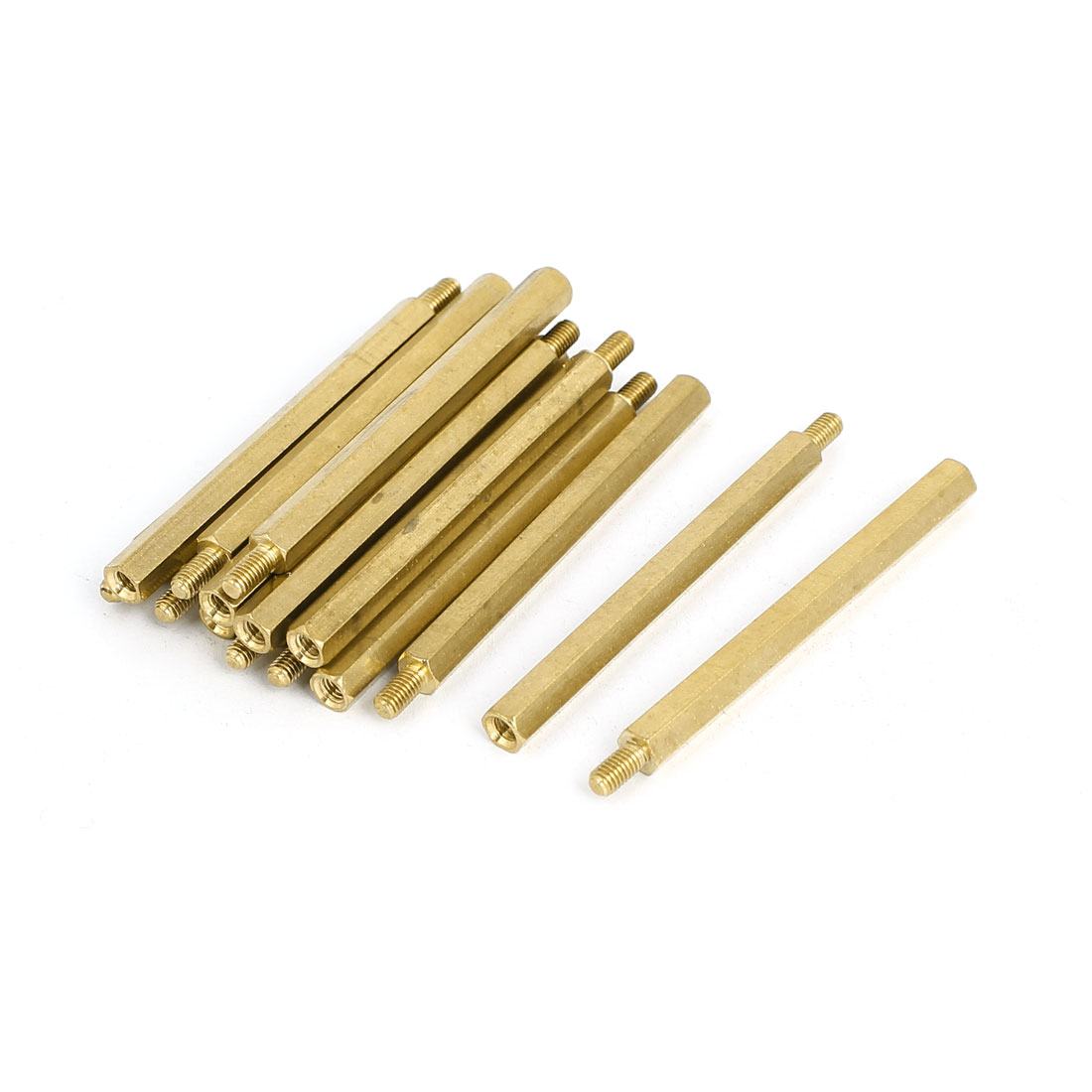 M3 Male/Female Thread Brass Hex Hexagonal PCB Spacer Standoff Support 50mm+6mm 15pcs