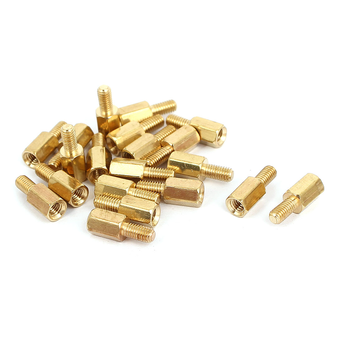 M3 Male to Female Thread Brass Hexagonal PCB Spacer Standoff Support 7mm+6mm 20pcs