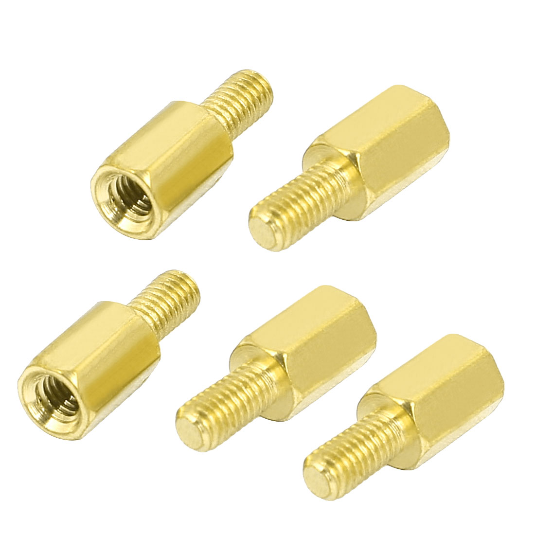 M3 Male to Female Thread Brass Hexagonal PCB Spacer Standoff Support 7mm+6mm 5pcs