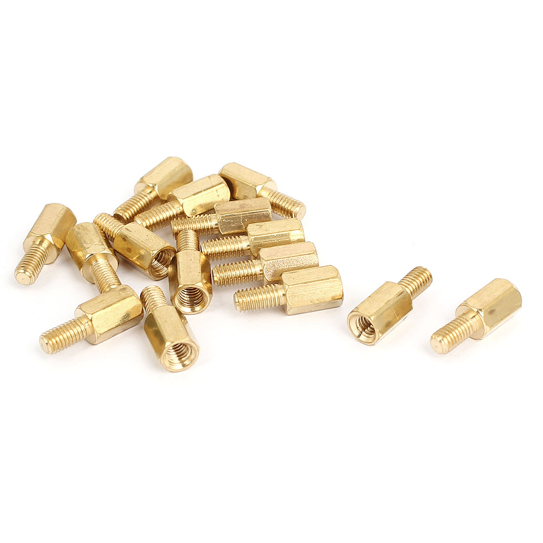 M3 Male to Female Thread Brass Hexagonal PCB Spacer Standoff Support 7mm+6mm 15pcs