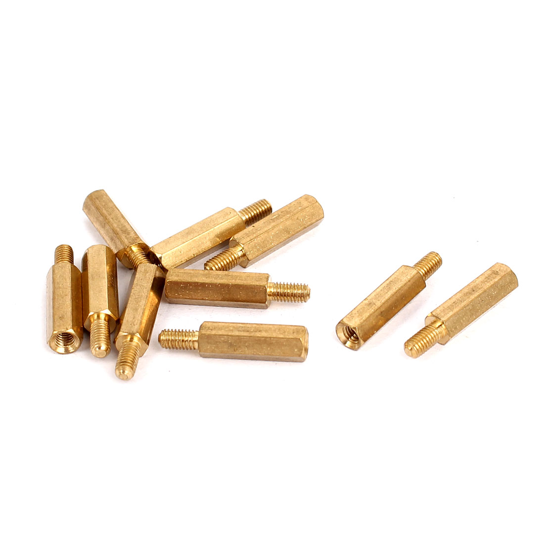 M3 Female x Male Brass Hexagonal Pillar Standoff Spacer Screws Bolt 15+6mm 10pcs