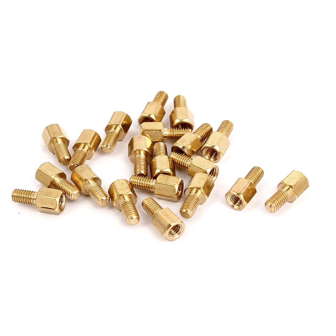 M3 Female x Male Brass Hexagonal Pillar Standoff Spacer Screws Bolt 5+6mm 20pcs