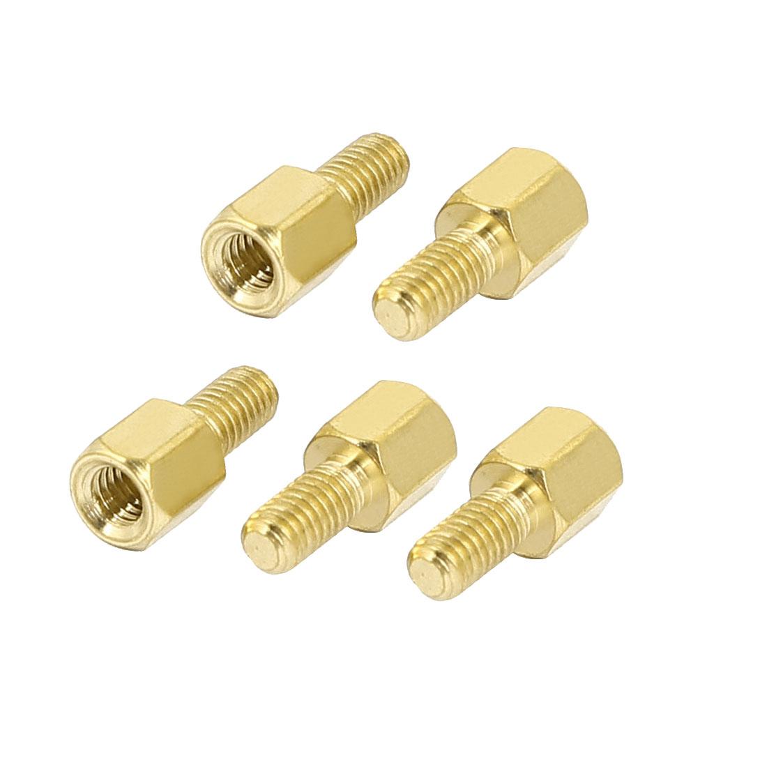 M3 Female x Male Brass Hexagonal Pillar Standoff Spacer Screws Bolt 5+6mm 5pcs