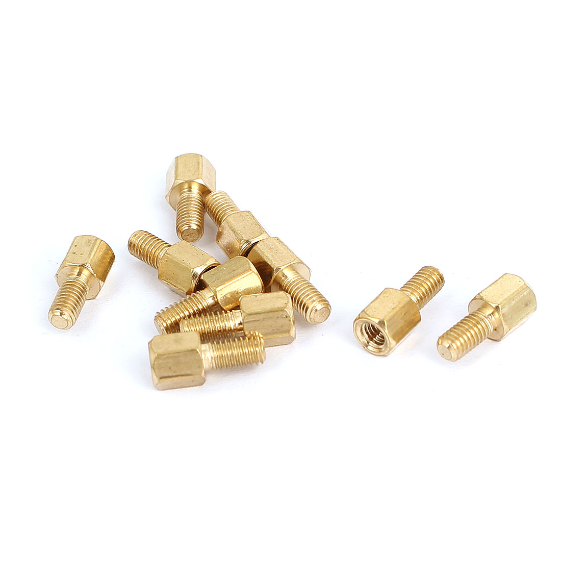 M3 Female x Male Brass Hexagonal Pillar Standoff Spacer Screws Bolt 5+6mm 10pcs