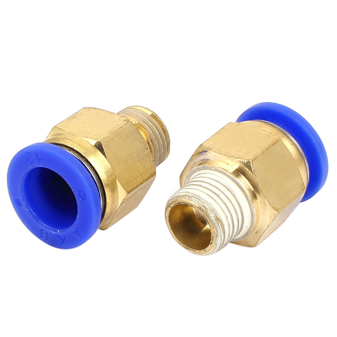 12mm to 1/4BSP Male Thread Air Pneumatic Straight Push in Connectors Quick Fittings 2pcs