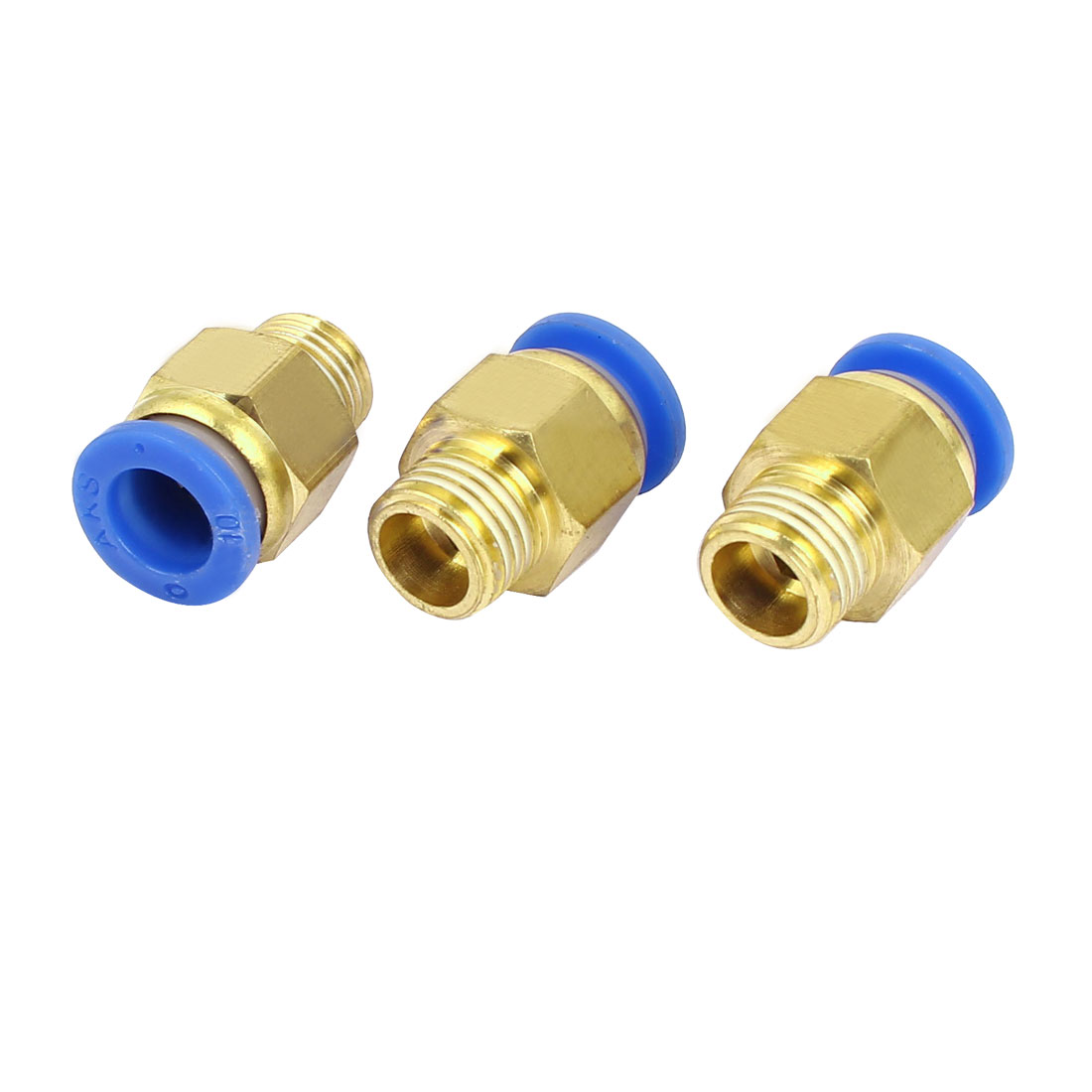 10mm to 1/4BSP Male Thread Pneumatic Tubing Push In Quick Fittings 3pcs