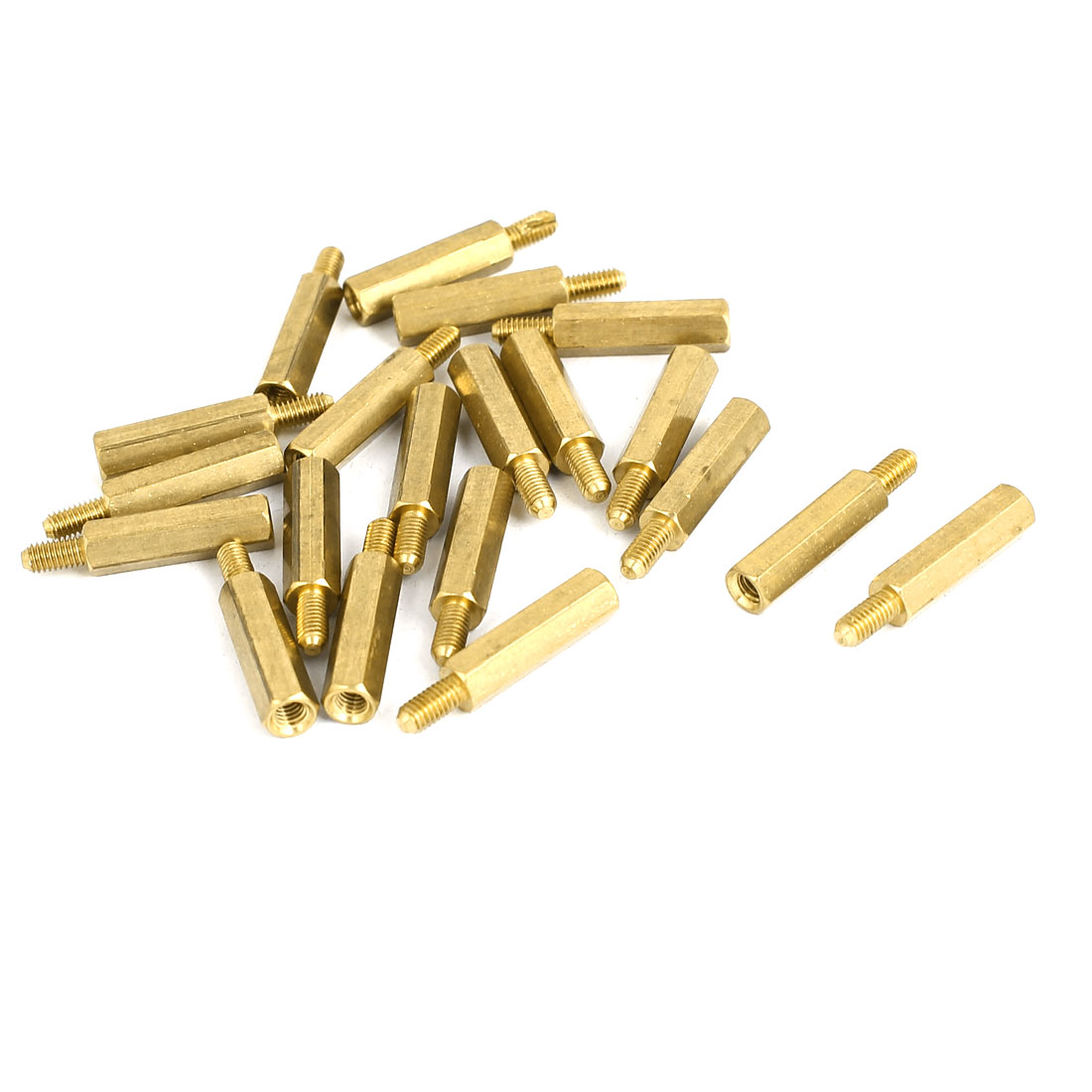 M3 Female x Male Brass Hexagonal Pillar Standoff Spacer Screws Bolt 17+6mm 20pcs
