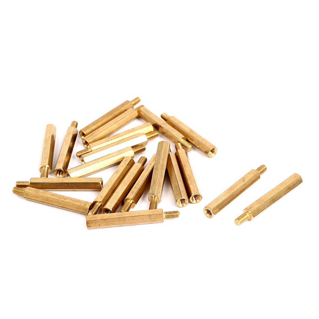 M3 Male/Female Thread Brass Hexagonal PCB Spacer Standoff Support 28mm+6mm 20pcs