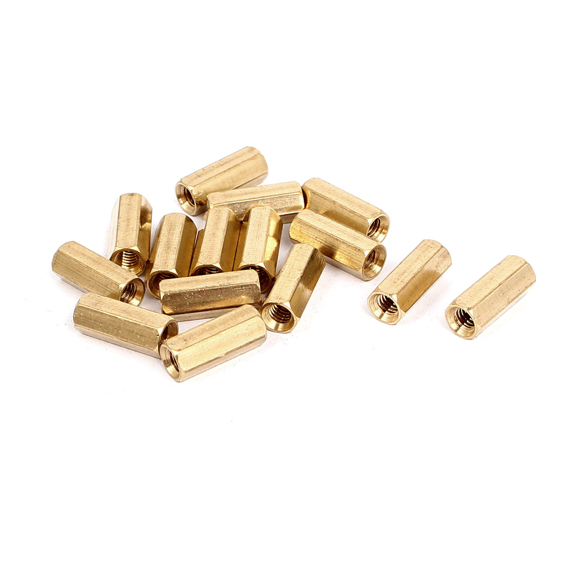 M4x15mm Brass Hex Hexagonal Female Thread PCB Standoff Spacer 15pcs