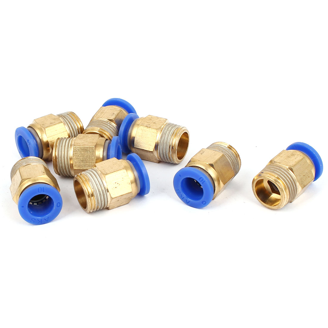10mm to 3/8BSP Male Thread Pneumatic Quick Fitting Connector Joint 8pcs