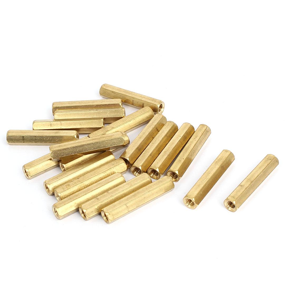 M4x30mm Brass Hex Hexagonal Female Thread PCB Standoff Spacer 20pcs