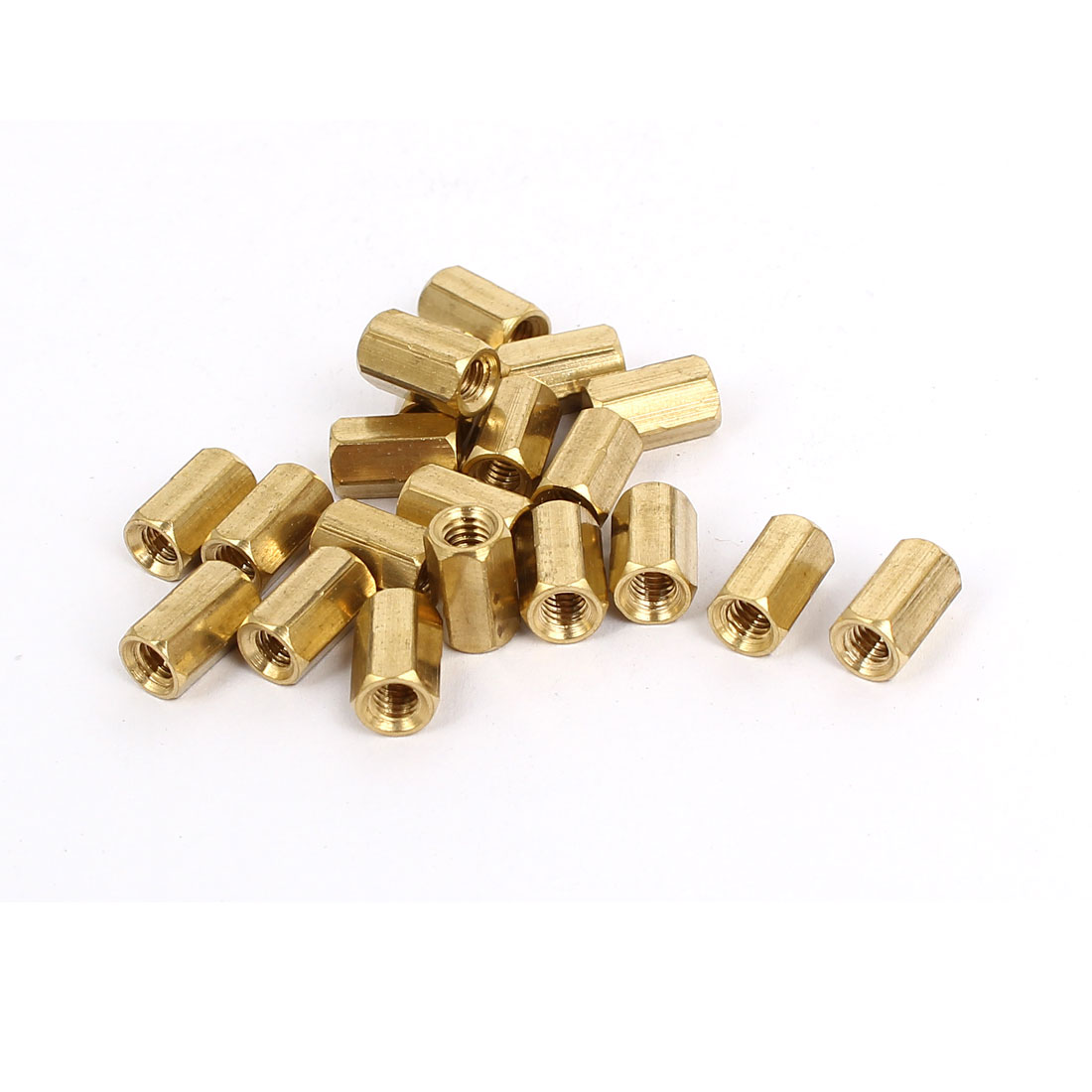 M4x10mm Brass Hex Hexagonal Female Threaded Standoff Spacer Pillars 20pcs