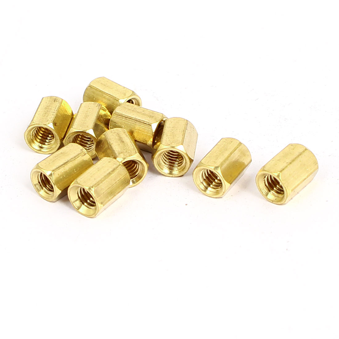 M4x8mm Brass Hex Hexagonal Female Threaded Standoff Spacer Pillars 10pcs