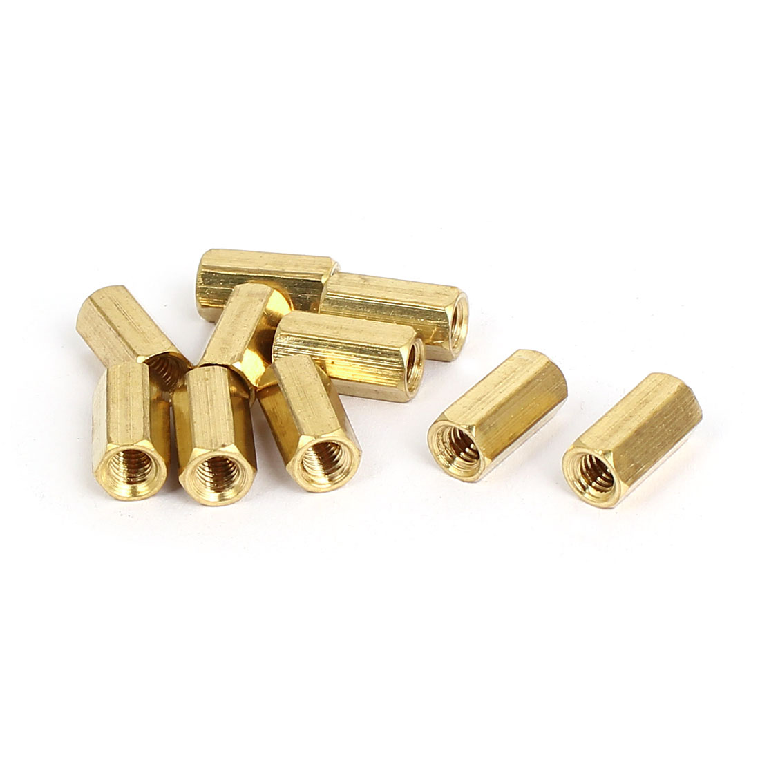M4x12mm Brass Hex Hexagonal Female Threaded Standoff Spacer Pillars 10pcs