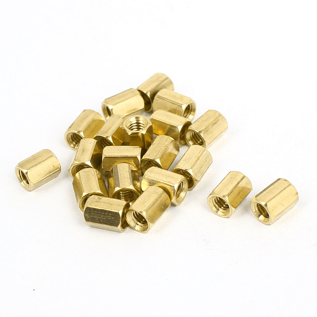 M4x8mm Brass Hex Hexagonal Female Threaded Standoff Spacer Pillars 20pcs