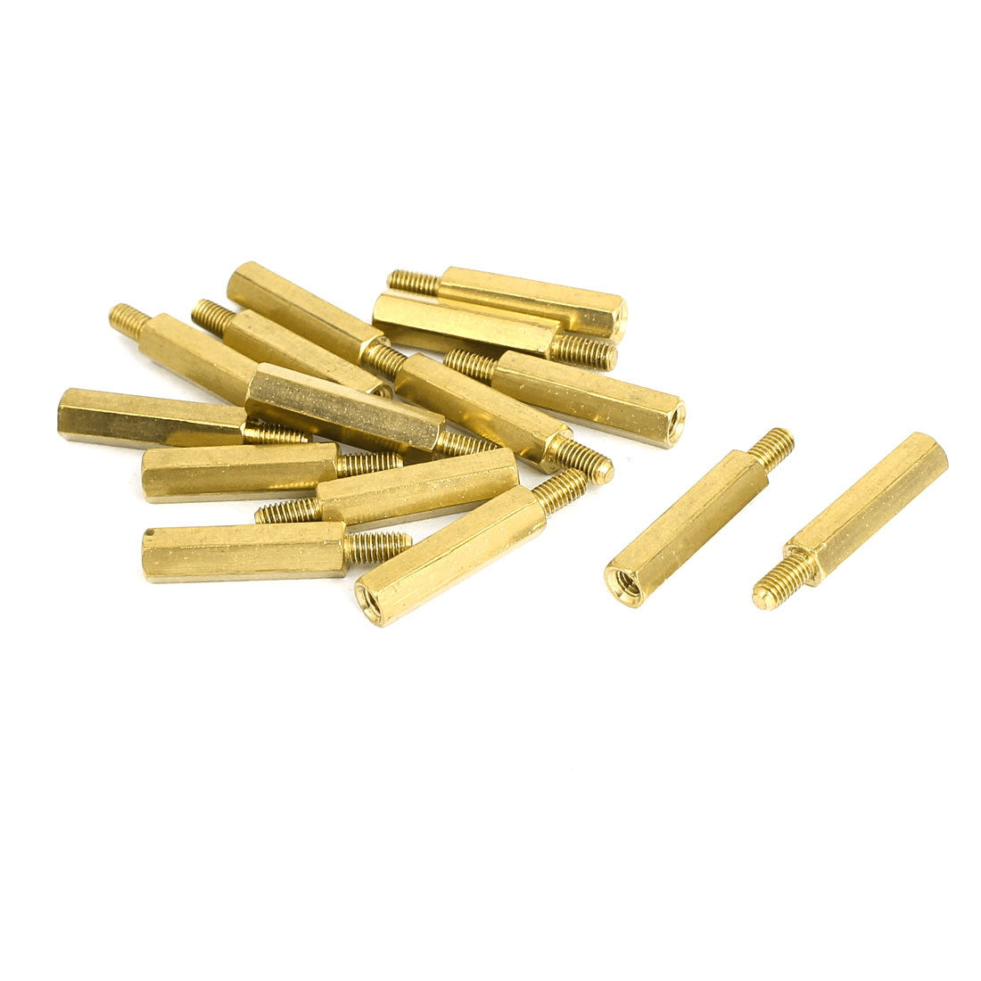 M3 Male/Female Thread Brass Hex Hexagonal Spacer Standoff Support 19mm+6mm 15pcs