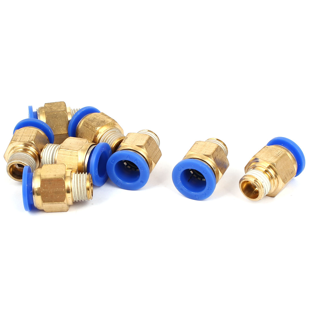 12mm to 1/4BSP Male Thread Air Pneumatic Straight Push in Connectors Quick Fittings 8pcs