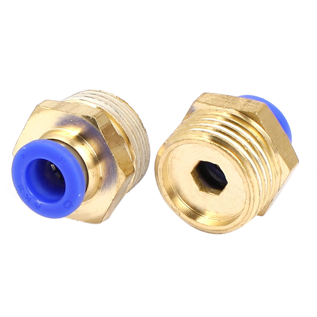 1/2BSP Male Thread 8mm Push In Joint Pneumatic Connector Quick Fittings 2pcs