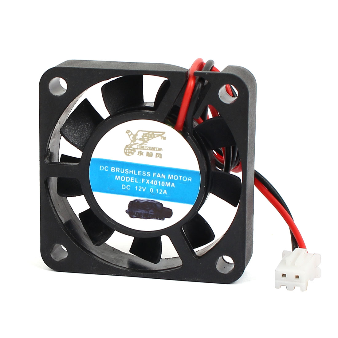 4pcs DC 12V 9 Cutters 2-Wire Computer Case CPU Cooler Brushless Cooling Fan 4 x 4 x 1cm