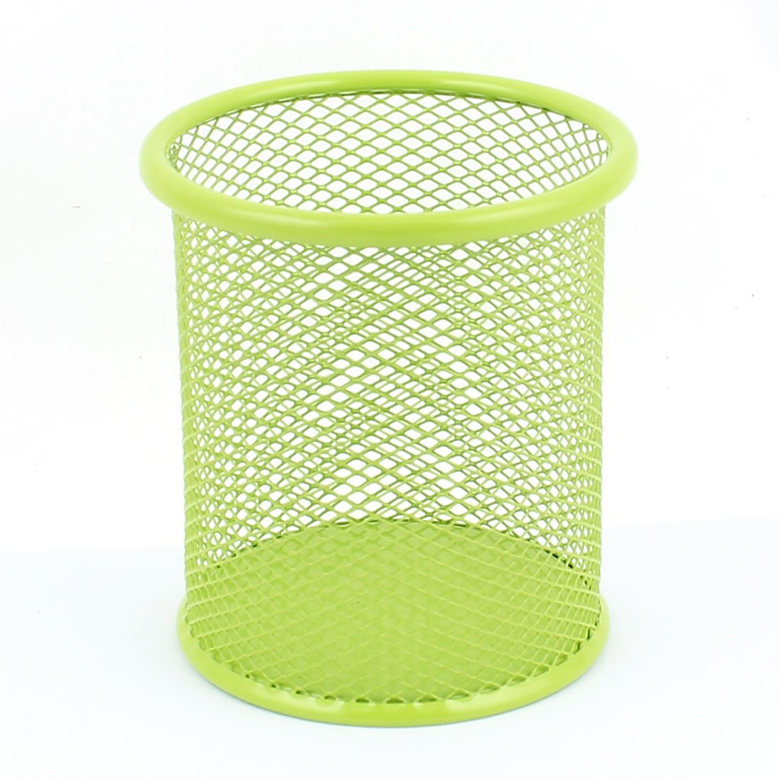 Office School Metal Mesh Style Pen Pencil Ruler Holder Container Storage Organizer Green