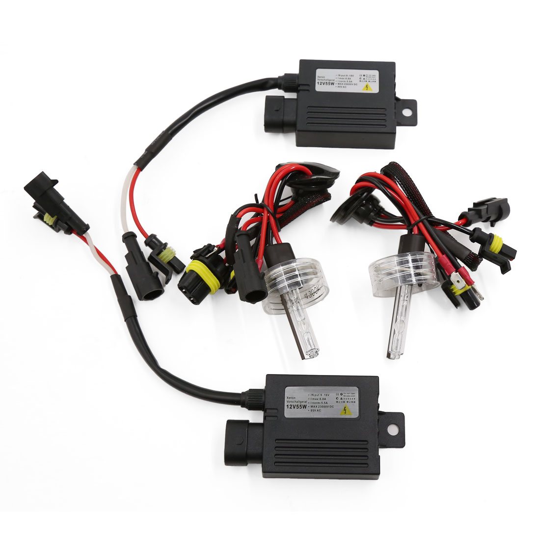 Car 4300K H3 HID Light Bulb Single Beam Xenon Lamp Headlight Slim Conversion Kit