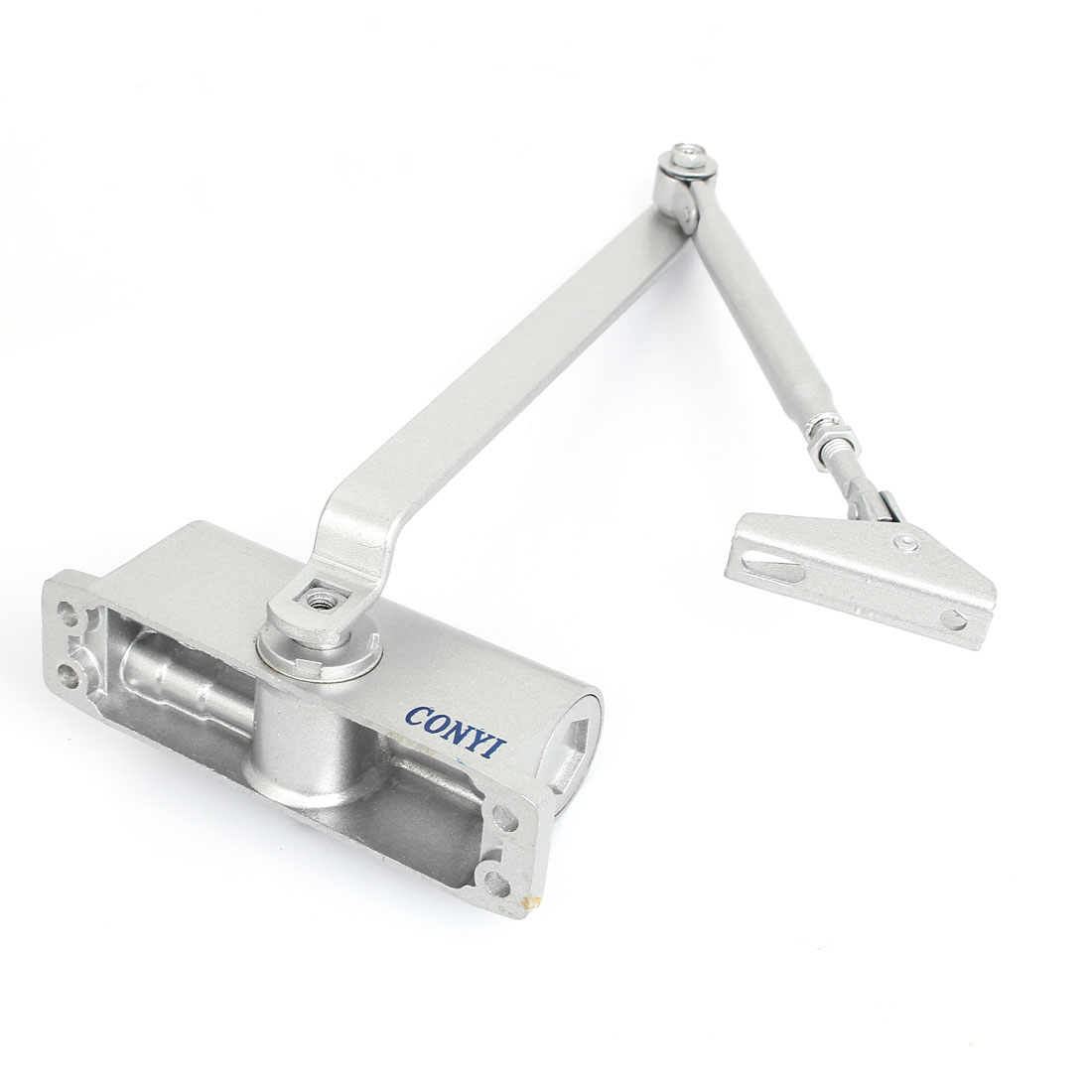 Door Closer Two Independent Valves Control Sweep Silver Tone