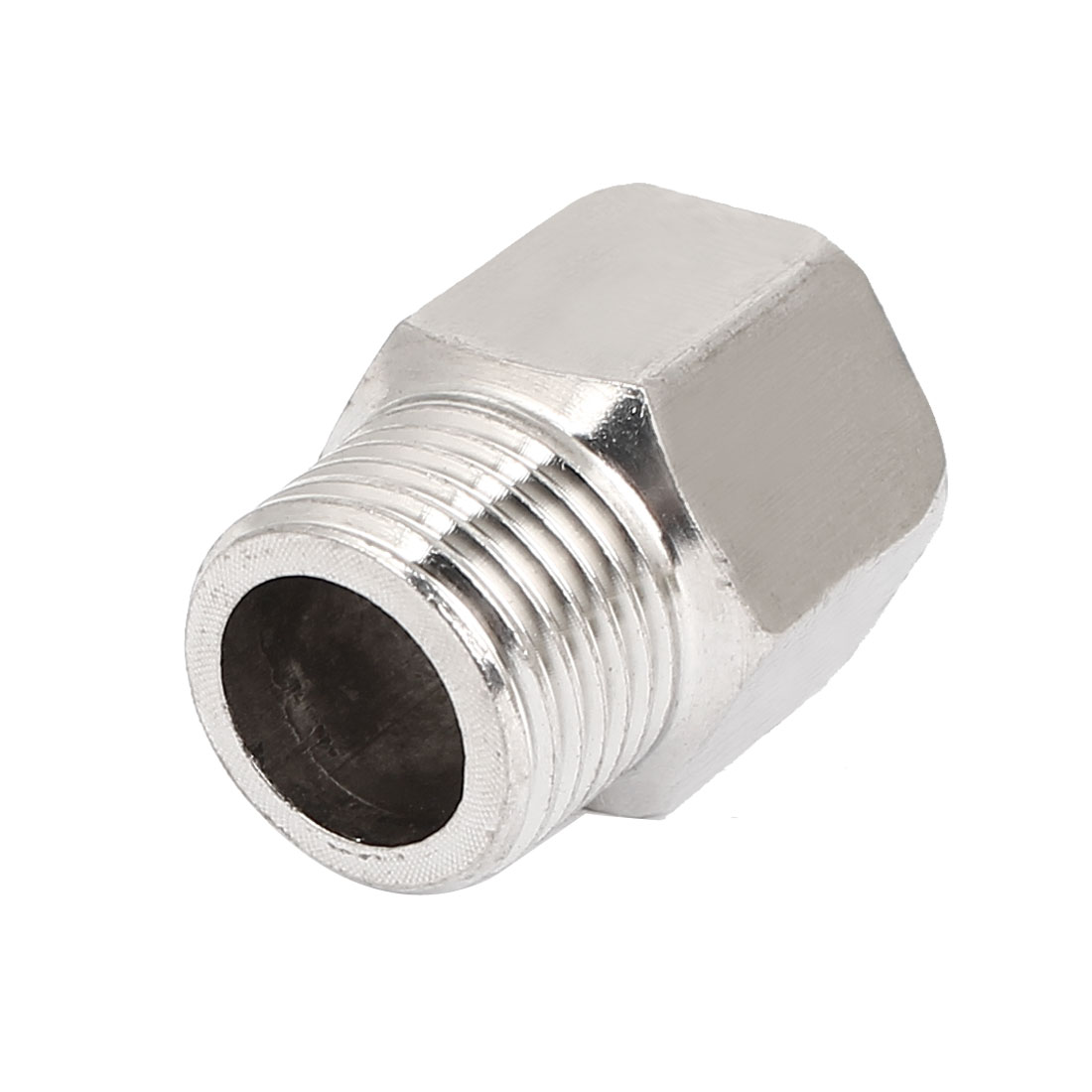 1/2BSP Female Male Thread Steel Pipe Fitting Connector Silver Tone 32mm Length