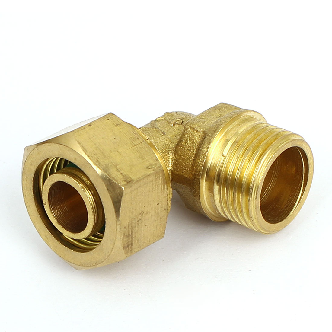 1/2 BSP 90 Degree Male Elbow Pipe Coupler Connector Brass Tone