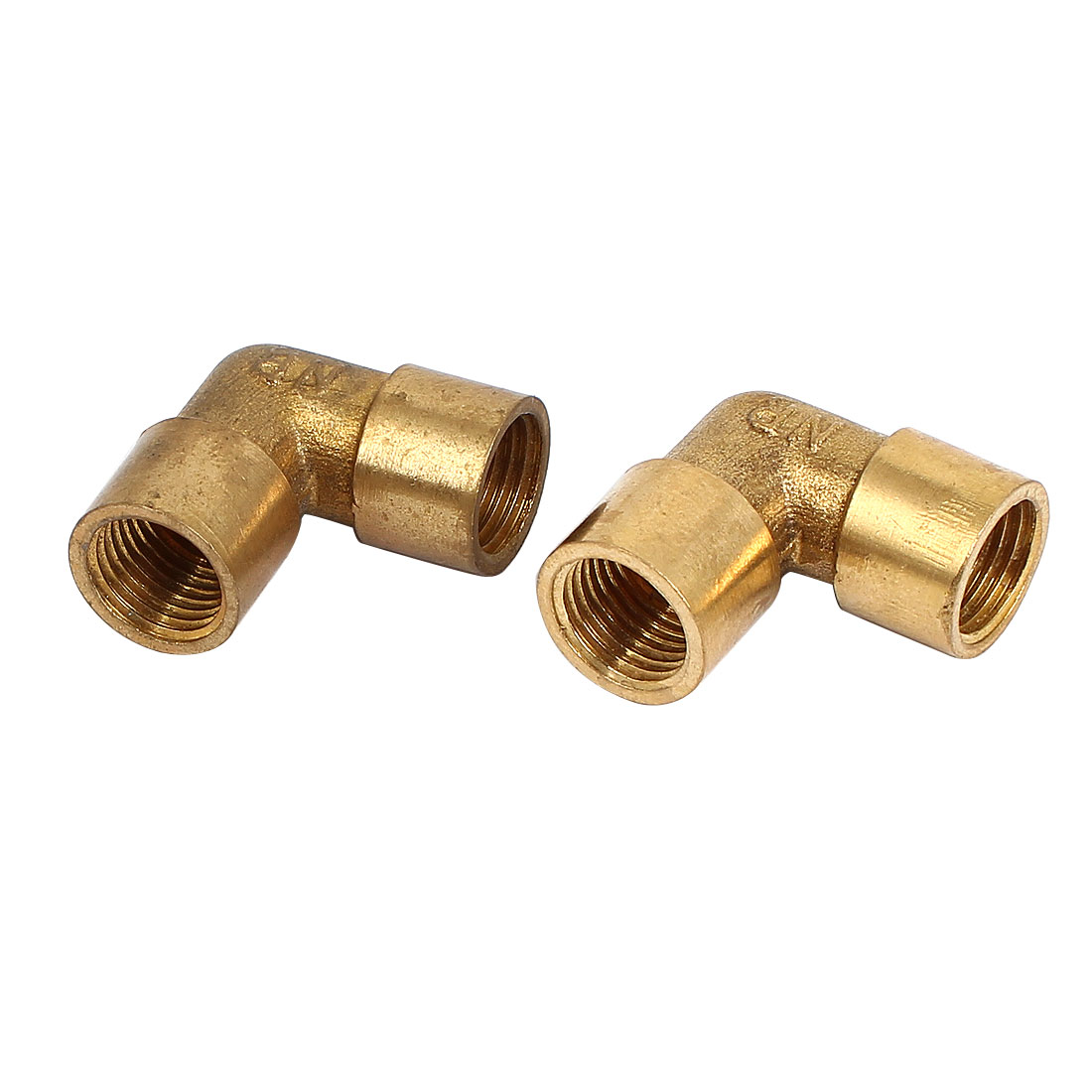 1/4BSP x 1/4BSP F/F 90 Degree Equal Female Elbow Pipe Coupler Connector 2pcs