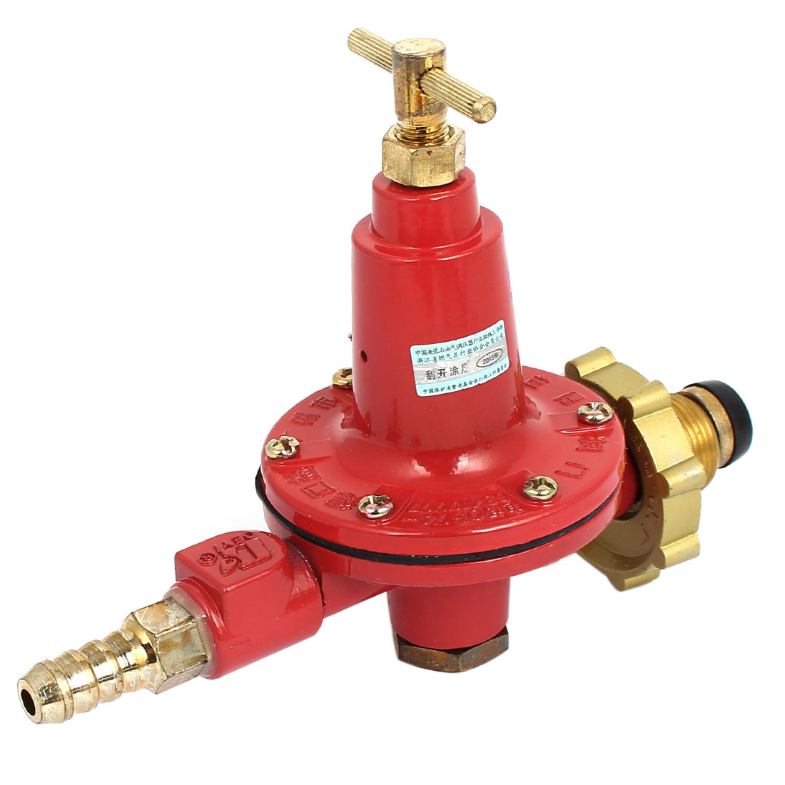 LGP Compressed Bottle Cylinder Gas Pressure Metallic Regulator Valve Red