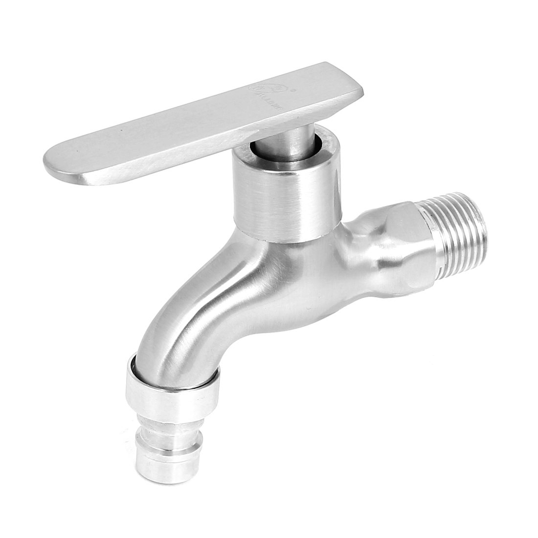 Kitchen Bathroom 20mm Male Threaded Metal 90 Degree Turn Water Faucet Tap
