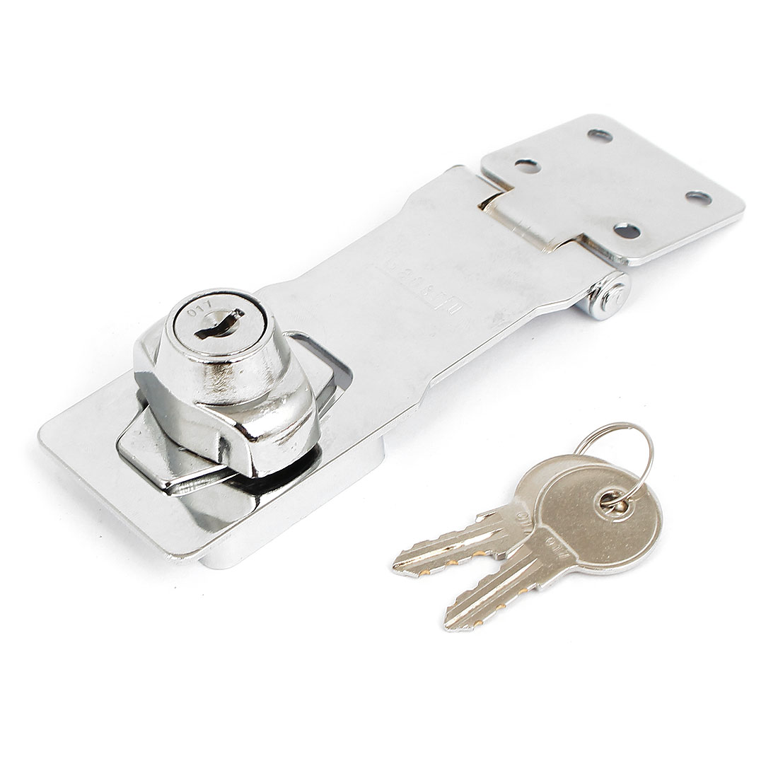 Home Office Drawer Locking Hasp Door Latch Lock Catch 4 Inch Long w 2 Keys