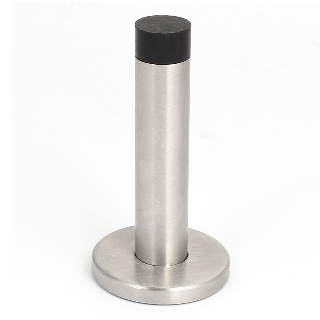 Brushed Stainless Steel Rubber Door Stop Stopper Wedge Security Bar Holder