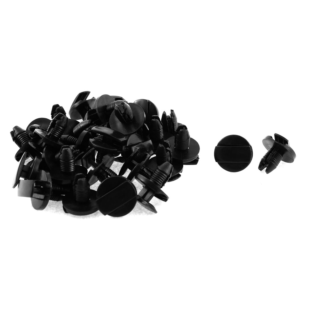 9mm x 7mm Plastic Screw Car Bumper Fender Push Clips Rivet Retainer 30pcs