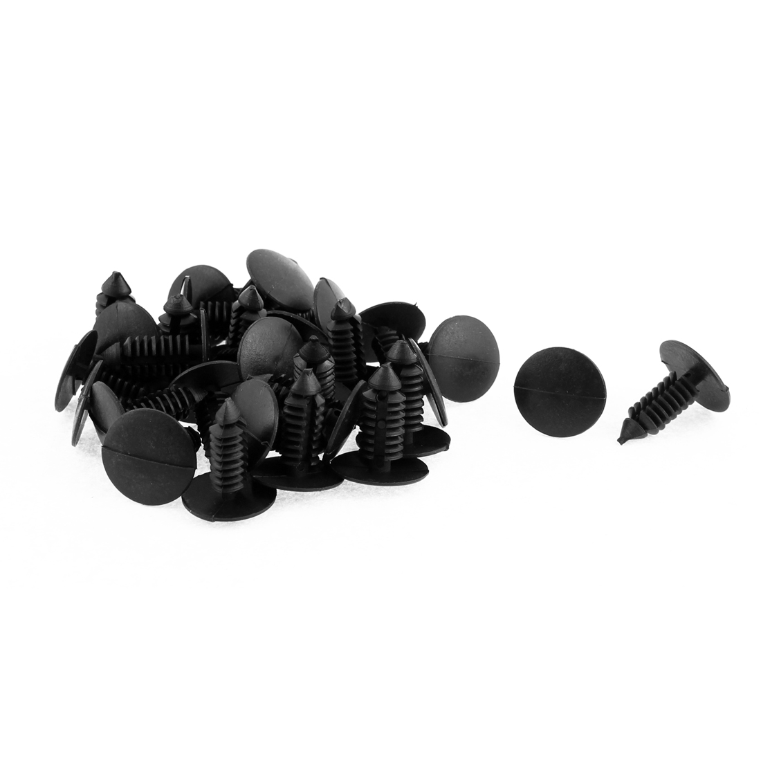 8mm x 6mm Black Plastic Rivet Retainer Fender Car Bumper Push Clip 30pcs