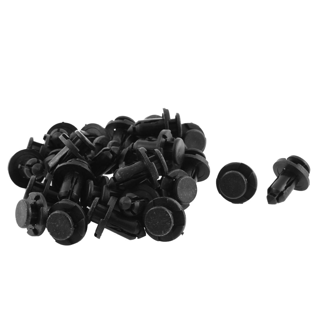 10mm x 20mm x 18mm Plastic Car Bumper Fender Push Clips Rivet Retainer 30pcs
